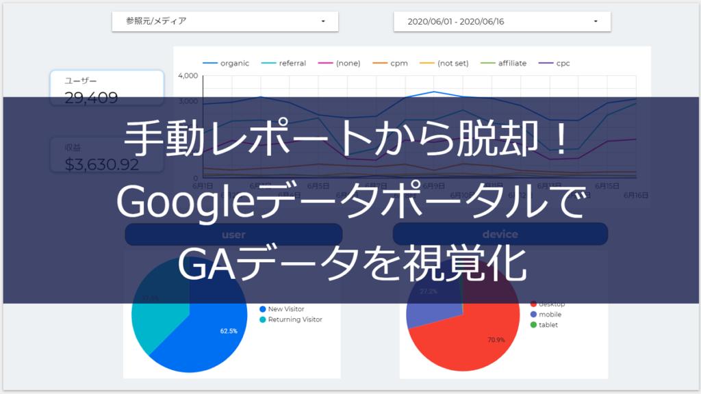 手動レポートから脱却!GoogleデータポータルでGAデータを視覚化(入門用/初心者向け)