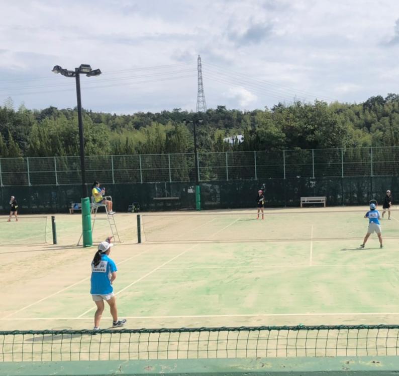 ソフトテニスの試合