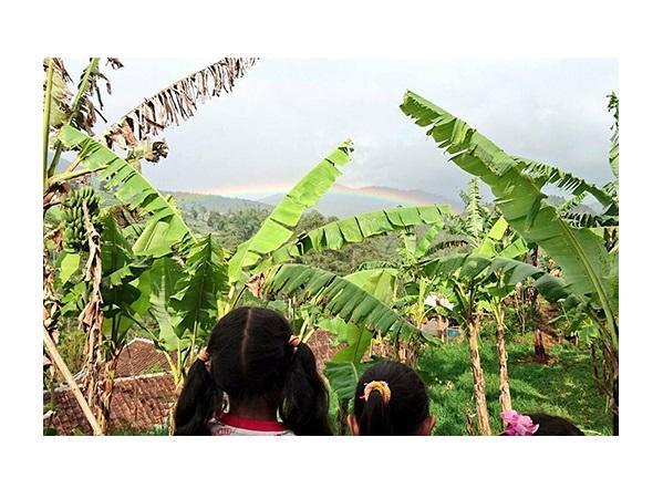 インドネシアの山奥の村にて