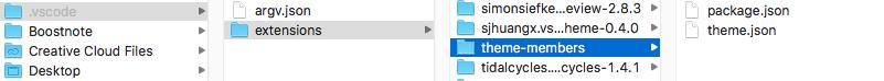追加した拡張機能などが入るフォルダ
